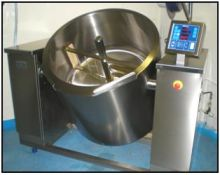 250 Litre Joni Electric Cooking Kettle with Mixer for Chutney.